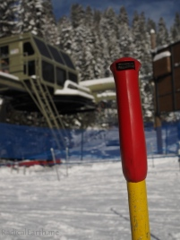 My trusty, and well used ski pole