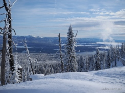 Looking South towards Payette lake, and McCall, Idaho