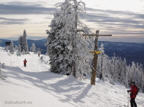 Brundage ski patrol beginning their sweeps at the end of the day
