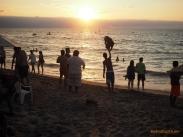 Waving down the last jetski rentals of the day at Los Muertos beach, in Puerto Vallarta