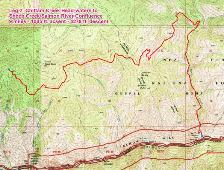 Chittam to Sheep creek