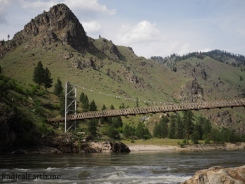 A view of the Wind River pack bridge