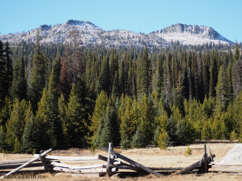 Slab Butte (to the right), from Sater Meadows