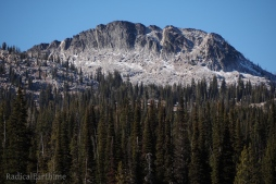 A closer look at East face of Slab Butte from Sater Meadows