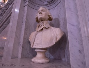 A bust of Thomas Jefferson