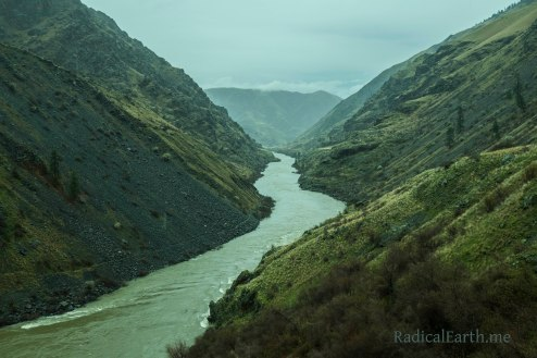 Looking downriver in the Snake Rivers, Hells Canyon