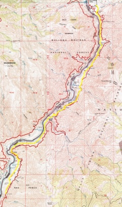 Day 3. Big Bar to Pittsburg Landing - 9.7 miles - 3148 ft. ascent - 3484 ft. descent