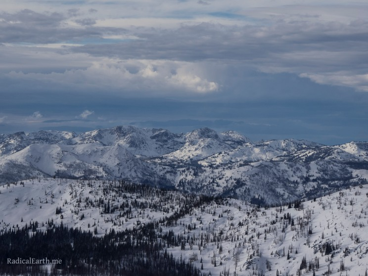 Looking west across the Little Salmon river drainage to the Seven Devils National Recreation Area